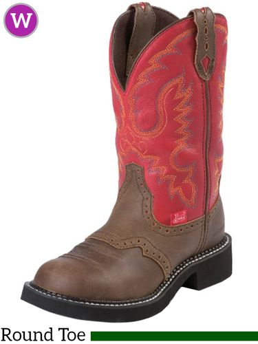 6B 7.5B Women's Justin Red Burnished Calf Gypsy™ Boots 9921 ZDS