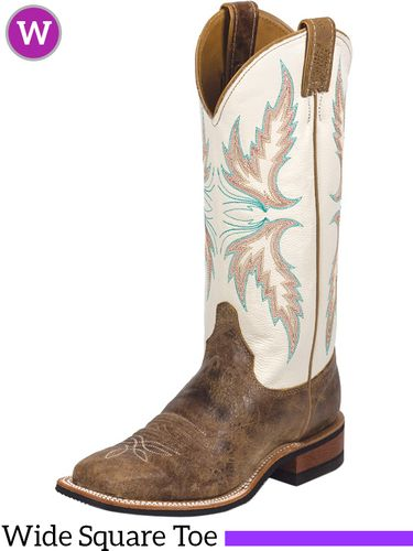 Women's Justin Ivory Cowhide Bent Rail® Boots BRL336 ZDS