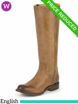 6B Justin Boots Womens Tan Rustico MSL502 ZDS CLEARANCE