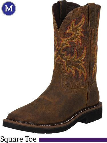 Men's Justin Driller Tan Stampede Boots WK4681