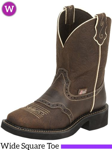 Women's Justin Mandra Brown Flower Embossed Gypsy™ Boots L9618