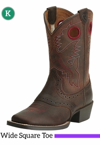 Kid's Ariat Roughstock Wide Square Toe Boots 10014101