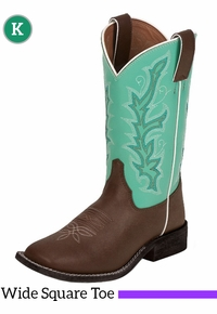 Kid's Justin Teal Spur Boots 310JR
