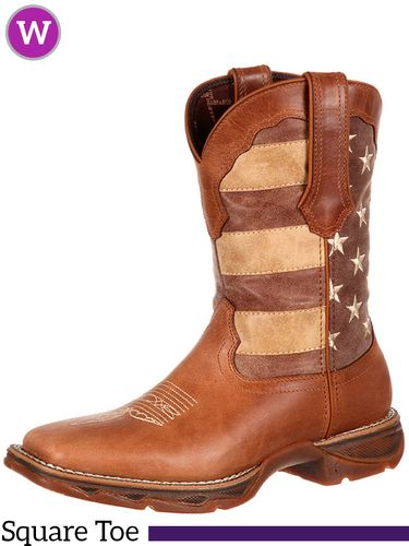 6.5B 9B  Women's Durango Rebel Faded Patriotic Flag Boots DRD0107