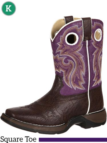 5 & 5.5 Youth Kid's Lil' Durango Brown Lacey Boots BT386 ZDS