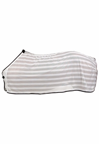 Lightweight Fly Scrim Sheet, White w/Black Trim
