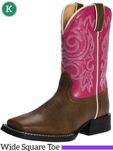 Kid's Lil' Durango Brown & Pink Western Boots BT217