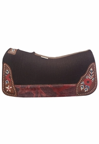 LIMITED EDITION! 5 Star Red Rising Saddle Pad Barrel, CLEARANCE