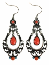 Blazin Roxx Scroll Chandelier Earrings 30434