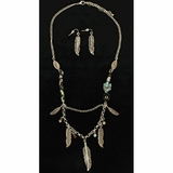 Western Products Set Feather Beads 30758