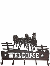 Welcome Sign Horse Hooks 94052