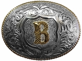 Crumrine Youth Oval Initial Buckle C10595
