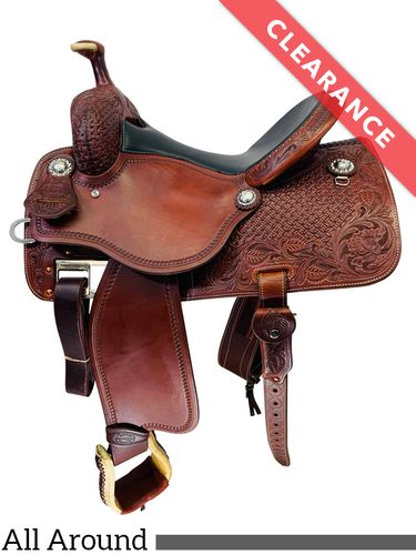 "14.5"" Martin Saddlery High Plains Black Rose All-Around Saddle 14-C3, CLEARANCE"
