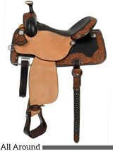 "** SALE **13.5"" to 17"" Martin Saddlery Hustler All-Around Saddle 14-C5"