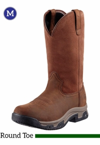 Men's Ariat Distressed Brown Terrain H20 Pull-On Boots 10011829