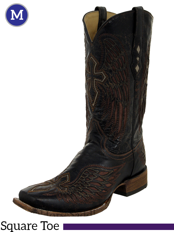 7b5a8fe5c509 Men s Corral Distressed Brown Wing   Cross Boots A1978
