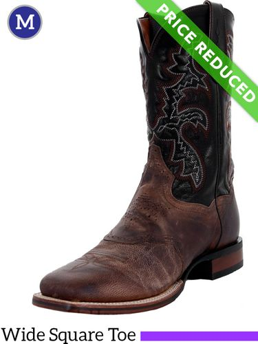 10D or 12EE Men's Dan Post Franklin Cowboy Certified Sand and Black Boots DP2815, CLEARANCE