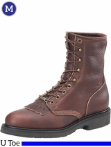 Men's Double-H Dark Brown Work Lacer Boots 9714