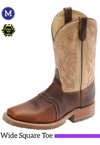 Men's Double-H ICE� Briar Bison Steel Toe Roper Boots DH5305
