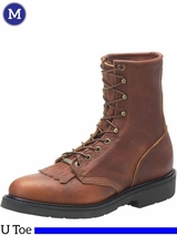 Men's Double-H Whiskey Leather Work Lacer Boots 9712