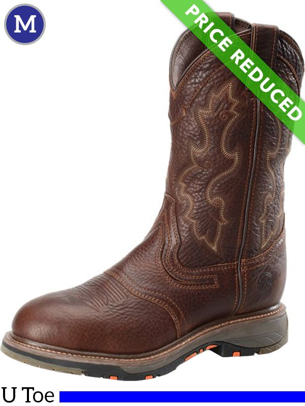 270abdd453d 9.5 Wide Men's Double-H Tumbled Briar Roper Boots DH5133, CLEARANCE