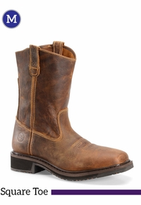 Mens Double-H Wide Square Toe Roper Boots DH4123 ZDS