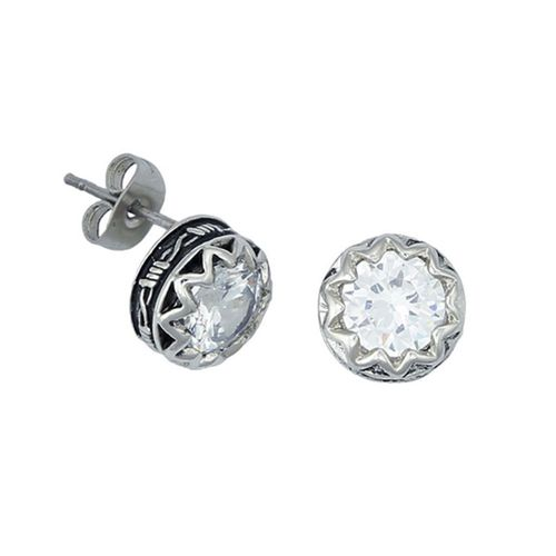 Montana Silversmiths Crystal Barbed Wire Stud Earrings ER1307CZ