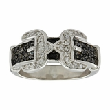Montana Silversmiths Double Buckle Ring RG3569BK