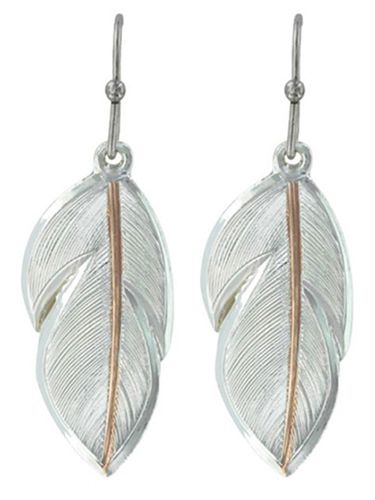 Montana Silversmiths Downy Feather Earrings ER2878RG