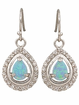 Montana Silversmiths River Lights on Ice Teardrop Earrings ER2536