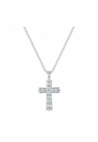 Montana Silversmiths Round Brilliance Cross Necklace NC3251