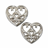 Montana Silversmiths Sterling Pierced Hearts Earrings 61052