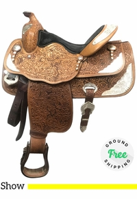 """PRICE REDUCED!! 14.5"""" Used Big Horn Medium Show Saddle 1898 usbh4013 *Free Shipping*"""