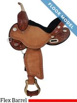 "PRICE REDUCED! 14"" Circle Y Flex2 Barrel Saddle 1528 Blaze, Floor Model"
