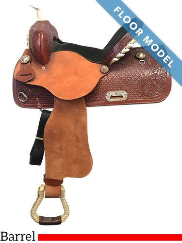 "PRICE REDUCED! 14"" Nash Leather Wide Barrel Saddle 440, Floor Model"