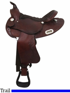 """15"""" to 17"""" Big Horn Extra Wide Trail Saddle 908"""