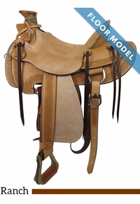 "PRICE REDUCED! 15"" Big Horn Wade Ranch Trail Saddle 867, Floor Model"