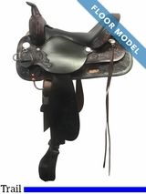 """PRICE REDUCED! 15"""" High Horse Mineral Wells Wide Trail Saddle 6812, Floor Model"""