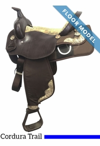 "PRICE REDUCED! 15"" Nash Leather Wide Polyride Cordura Trail Saddle 75909, Floor Model"