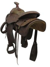 "PRICE REDUCED! 15"" Used Shoup Medium Roping Saddle 7652 ussh3431 *Free Shipping*"