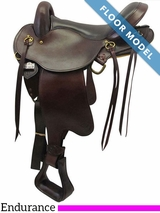 "PRICE REDUCED! 16"" Big Horn QHB Gaited Endurance Saddle 830, Floor Model"