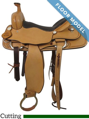 "SOLD 2020/11/11 PRICE REDUCED! 16"" Big Horn Ranch Cutting Saddle 865, Floor Model"