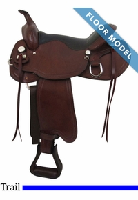 "PRICE REDUCED! 16"" Big Horn Supreme Trail Saddle 1661, Floor Model"