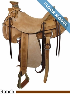 "** SALE **PRICE REDUCED! 15"" Big Horn Wade Ranch Trail Saddle 867, Floor Model"