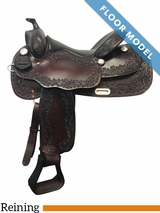"PRICE REDUCED! 16"" Big Horn Wide Supreme Reining Saddle 889, Floor Model"