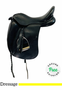 "PRICE REDUCED! 17.5"" Used Marcel Toulouse Marianne Dressage Saddle usto4361 *Free Shipping*"