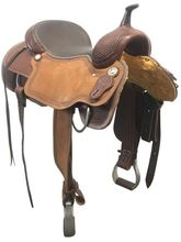 "SOLD 2019/10/09  PRICE REDUCED! 17"" Used Circle Y Canton Wide Cutting Saddle 2543 uscy3958 *Free Shipping*"