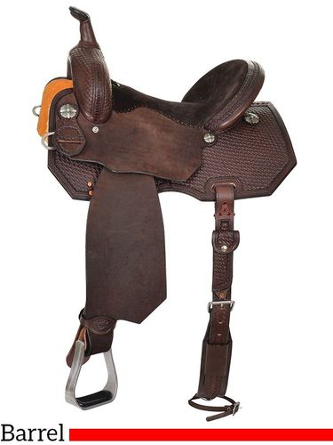 "12"" to 16"" Reinsman Barrel Saddle 4205 w/Free Pad"