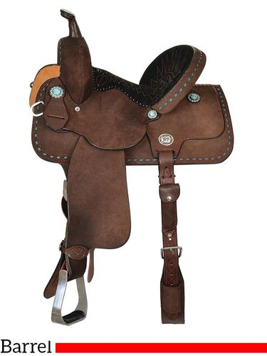 "13"" to 15"" Reinsman Molly Powell Barrel Saddle 4268 w/Free Pad"