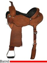 "13"" to 16"" Reinsman Charmayne James Roughout Record Breaker Barrel Saddle 4290 w/Free Pad"